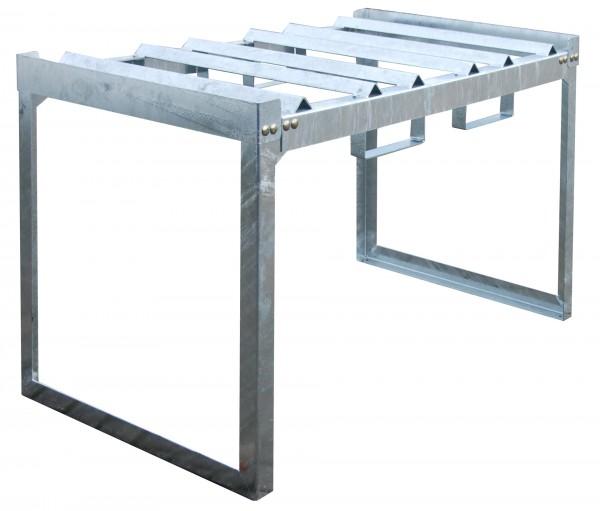 Fass- und Kleingebinderegal FRE-3/M, feuerverzinkt 1310x800x780mm, 3 x 60-l-Fässer