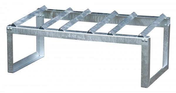 Fassauflage FA 60-3, feuerverzinkt 1155x545x455mm, 3 x 60-l-Fässer