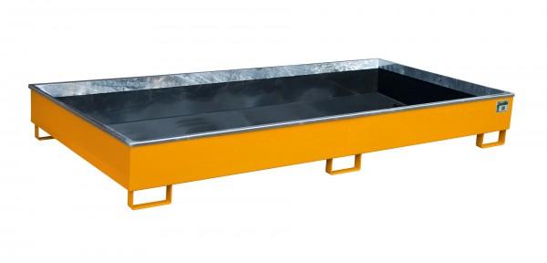 RW 2700-2 PE, lackiert - gelborange 2665x1315x305mm, Trägerlänge 2700mm, 540 Liter