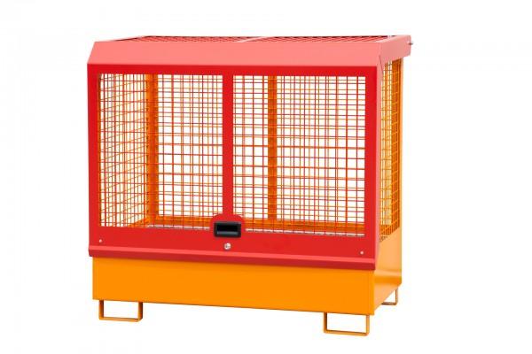 Depot GD-C, lackiert - gelborange 1430x820x1390mm, 2 x 200-l-Fässer, 224 Liter