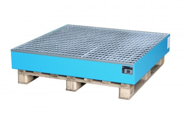 AW 2028, lackiert - lichtblau 1200x1200x185mm, 4 x 200-l-Fässer, 216 Liter