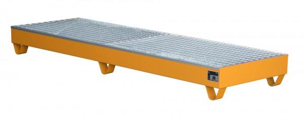 AW 2042, lackiert - gelborange 2400x800x250mm, 4 x 200-l-Fässer, 222 Liter