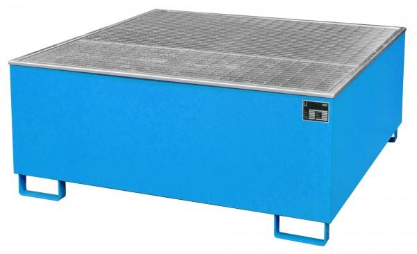 AW 1000/PE, lackiert - lichtblau 1475x1475x625mm, 1 x 1000-l-IBC, 1000 Liter