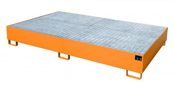 AW 1000-10F, lackiert - gelborange 2690x1650x375mm, 10 x 200-l-Fässer, 2 x 1000-l-IBC, 1000 Liter