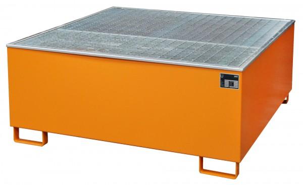 AW-1000/PE, lackiert - gelborange 1475x1475x625mm, 1 x 1000-l-IBC, 1000 Liter
