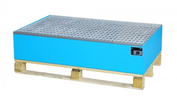 AW 2010, lackiert - lichtblau 1200x800x260mm, 2 x 200-l-Fässer, 215 Liter