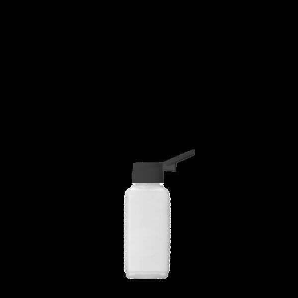 Vierkantflasche aus HDPE, 100 ml Gewinde 18