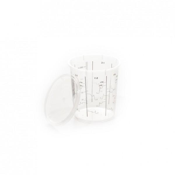 E-D-Mischbecher 400 ml, gedruckte Skala bis 325 ml, Pckg mit 200 Stück