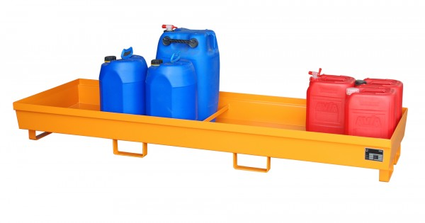 AO-4/B, lackiert - gelborange 2400x800x285mm, 280 Liter
