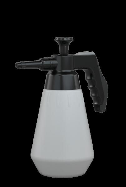 Druckpumpzerstäuber Profi 1,5L, PA, expert-FKM grau/schwarz, ErgoGrip Behälter PE-HD weiß, Sprühkopf