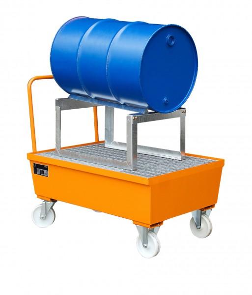 AST, lackiert - gelborange 1280x800x565mm, 1 x 200-l-Fass, 225 Liter