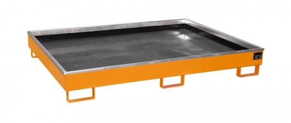 RW 1800 PE, lackiert - gelborange 1765x1315x255mm, Trägerlänge 1800mm, 240 Liter