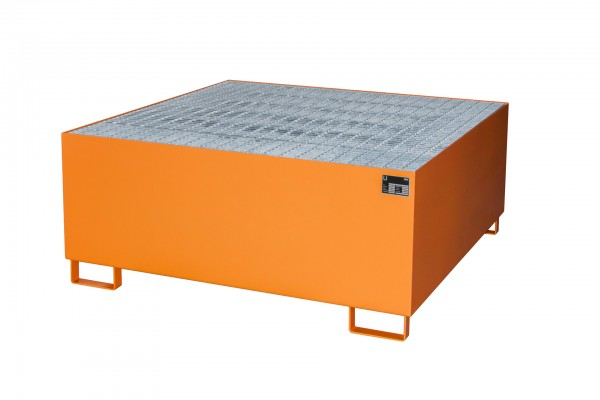 AW 1000, lackiert - gelborange 1460x1460x620mm, 1 x 1000-l-IBC, 1000 Liter