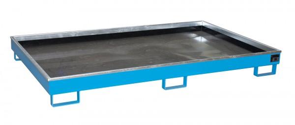 RW 2200-1 PE, lackiert - lichtblau 2165x1315x230mm, Trägerlänge 2200mm, 240 Liter
