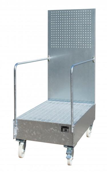 FA mit Lochplattenwand LPW 200-3, feuerverzinkt 1200x800x515mm, 2 x 200-l-Fass, 215 Liter
