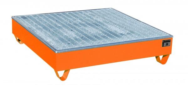 AW-4/A/PE, lackiert - gelborange 1215x1215x290mm, 4 x 200-l-Fässer, 211 Liter