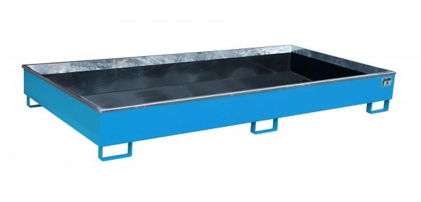 RW 2700-2 PE, lackiert - lichtblau 2665x1315x305mm, Trägerlänge 2700mm, 540 Liter
