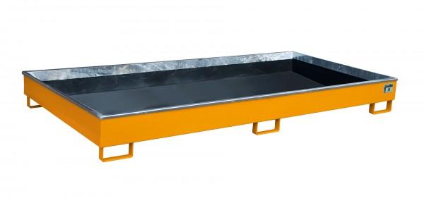 RW 2700-1 PE, lackiert - gelborange 2665x1315x210mm, Trägerlänge 2700mm, 240 Liter