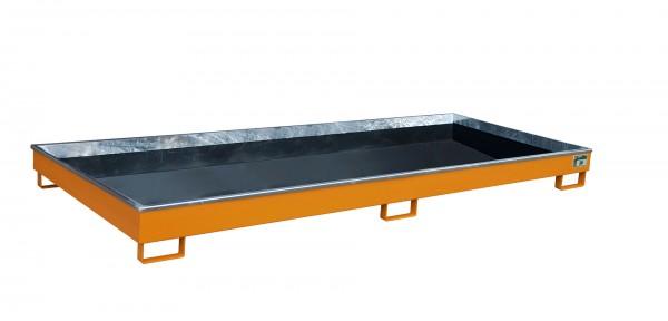 RW 3300-1 PE, lackiert - gelborange 3265x1315x195mm, Trägerlänge 3300mm, 240 Liter