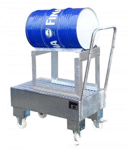 FA AW 60-1 SRF, feuerverzinkt 800x500x415mm, 1 x 60-l-Fass, 61 Liter