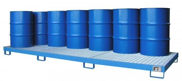 AW-12, lackiert - lichtblau 3850x1300x200mm, 12 x 200-l-Fässer, 335 Liter