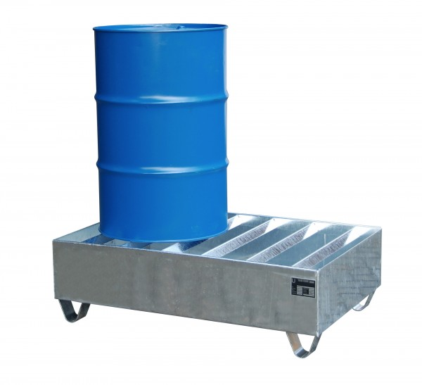 PW 200-2, feuerverzinkt 1200x800x360mm, 2 x 200-l-Fässer, 224 Liter