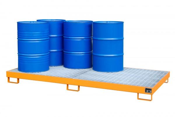 AW-8, lackiert - gelborange 2650x1300x210mm, 8 x 200-l-Fässer, 240 Liter