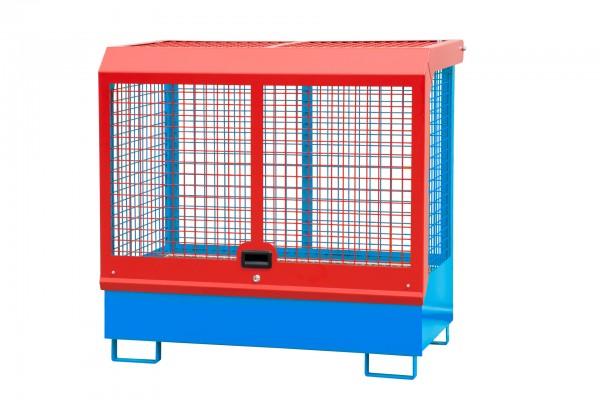 Depot GD-C, lackiert - lichtblau 1430x820x1390mm, 2 x 200-l-Fässer, 224 Liter