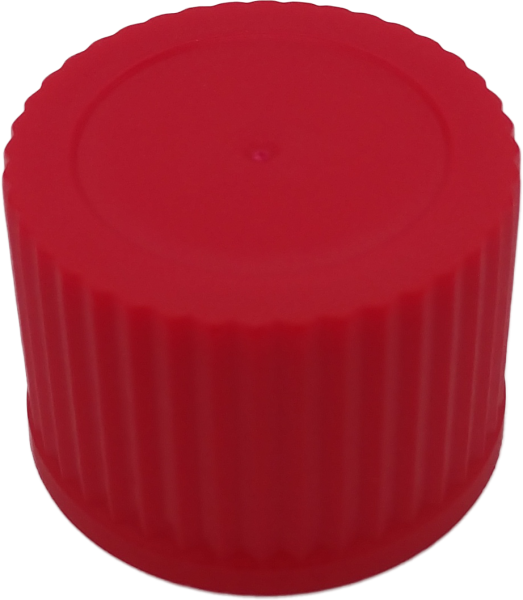 Schraubverschluß RD 25 rot m. Spritzeinsatz 3mm Öffnung