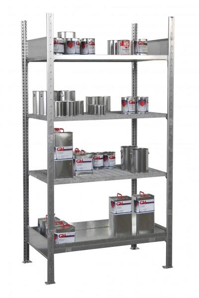 Fass- und Kleingebinderegal FRE-1/M, feuerverzinkt 910x790x780mm, 1 x 200-l-Fass