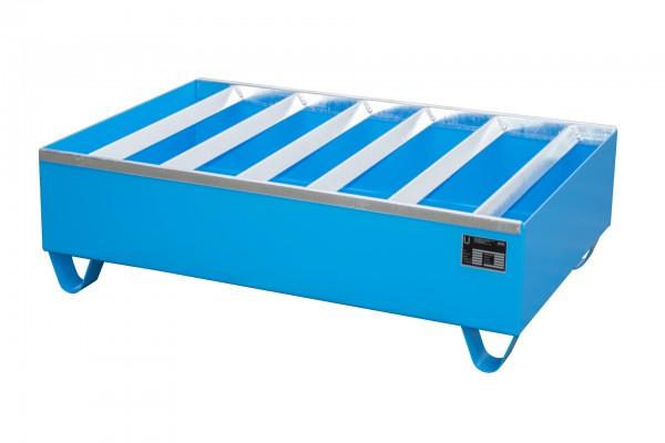 PW 200-2, lackiert - lichtblau 1200x800x360mm, 2 x 200-l-Fässer, 224 Liter