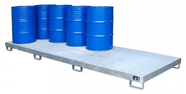 AW-12, feuerverzinkt 3850x1300x200mm, 12 x 200-l-Fässer, 335 Liter
