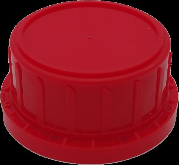 Originalitätsverschluß PP, rot, DIN 28 mit Dichtung PE-Schaum