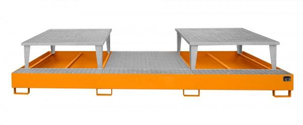 AWA 32, lackiert - gelborange 3850x1460x780mm, 2 x Abfüllaufsatz, 1 x Gitterrost, 3 x 1000-l-IBC, 10