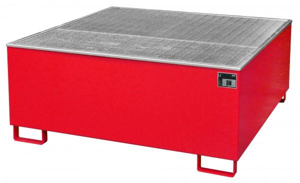 AW 1000/PE, lackiert - feuerrot 1475x1475x625mm, 1 x 1000-l-IBC, 1000 Liter