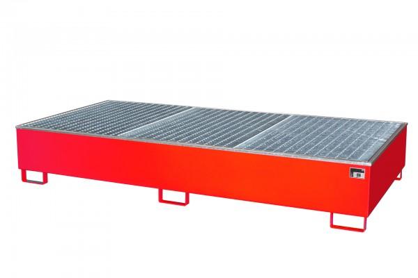 AW 1000-2/PE, lackiert - feuerrot 2665x1315x440mm, 2 x 1000-l-IBC, 1000 Liter