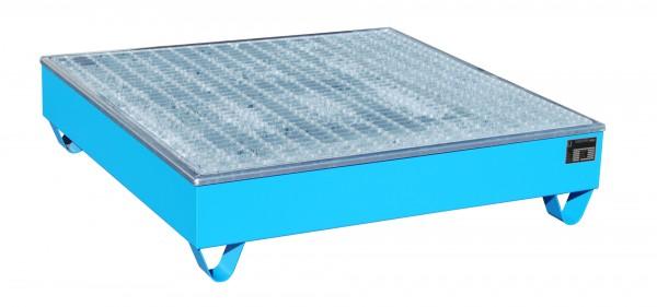 AW-4/A/PE, lackiert - lichtblau 1215x1215x290mm, 4 x 200-l-Fässer, 211 Liter