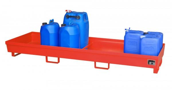 AO-4/B, lackiert - feuerrot 2400x800x285mm, 280 Liter