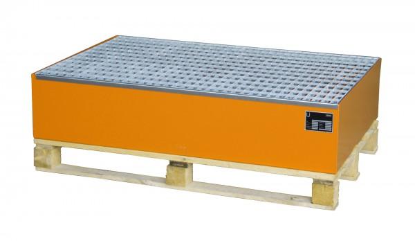 AW 2010, lackiert - gelborange 1200x800x260mm, 2 x 200-l-Fässer, 215 Liter
