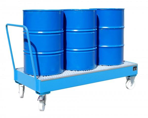 FA 2050 SR, lackiert - lichtblau 1800x800x430mm, 3 x 200-l-Fass, 202 Liter