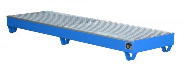 AW 2042, lackiert - lichtblau 2400x800x250mm, 4 x 200-l-Fässer, 222 Liter