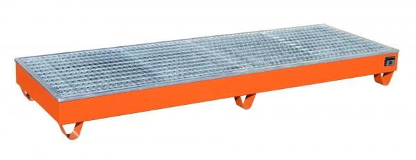 AW-4/B/PE, lackiert - gelborange 2415x815x255mm, 4 x 200-l-Fässer, 218 Liter