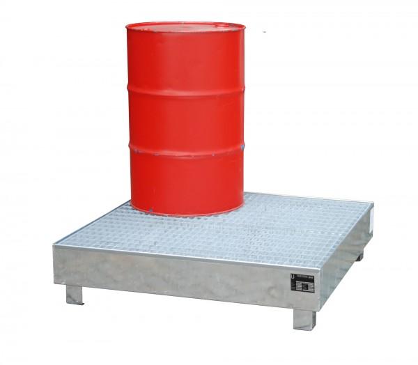 WM-4/200, feuerverzinkt 1200x1200x290mm, 4 x 200-l-Fässer, 216 Liter