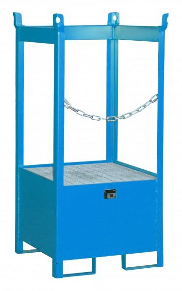 FSP-1, lackiert - lichtblau 755x755x1590mm, 1 x 200-l-Fass, 210 Liter