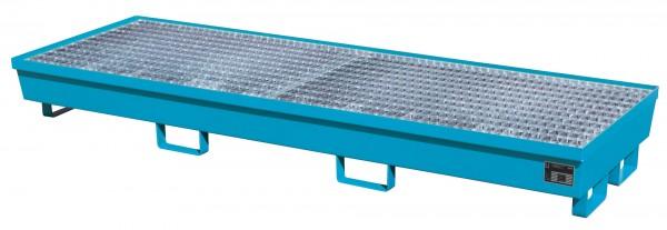 AM-4/B, lackiert - lichtblau 2400x800x285mm, 4 x 200-l-Fässer, 233 Liter