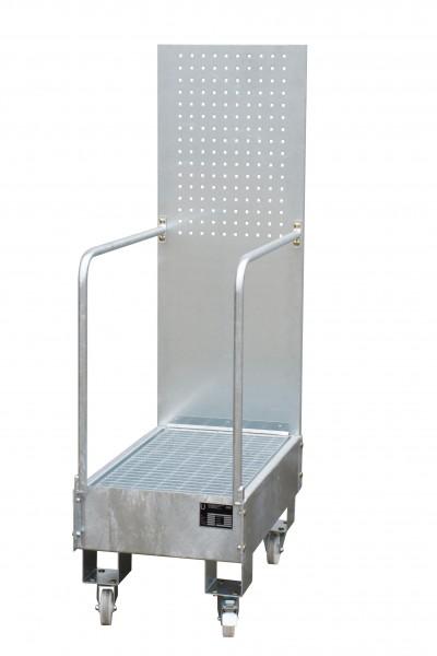 FA mit Lochplattenwand LPW 60-3, feuerverzinkt 800x500x415mm, 2 x 60-l-Fass, 60 Liter