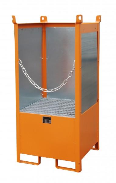 FSP-1 G, lackiert - gelborange 760x760x1590mm, 1 x 200-l-Fass, 210 Liter