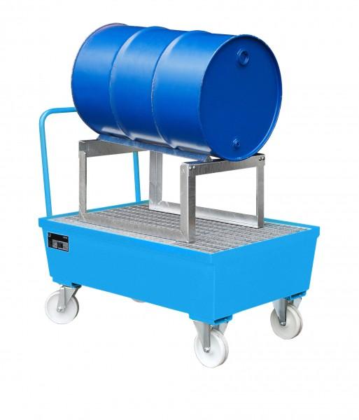 AST, lackiert - lichtblau 1280x800x565mm, 1 x 200-l-Fass, 225 Liter