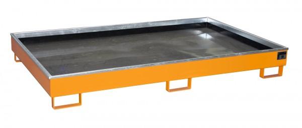 RW 2200-2 PE, lackiert - gelborange 2165x1315x510mm, Trägerlänge 2200mm, 1000 Liter
