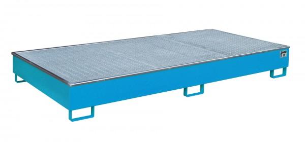 RW-GR 2700-2 PE, lackiert - lichtblau 2665x1315x305mm, Trägerlänge 2700mm, 540 Liter